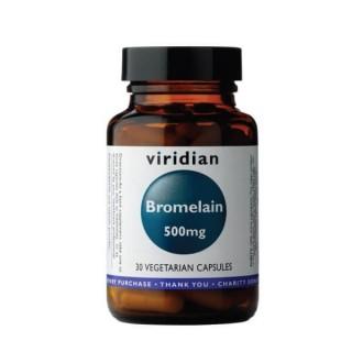 """Maisto papildas virškinimui BROMELAINAS """"Bromelain 500 mg"""", VIRIDIAN, 30 kapsulių"""