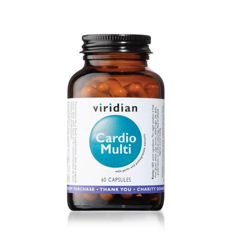"""Maisto papildas """"Cardio Multi"""", VIRIDIAN, 60 kapsulių"""