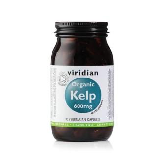 """Maisto papildas RUDADUMBLIAI """"Organic Kelp 600mg"""", VIRIDIAN, 90 kapsulių"""