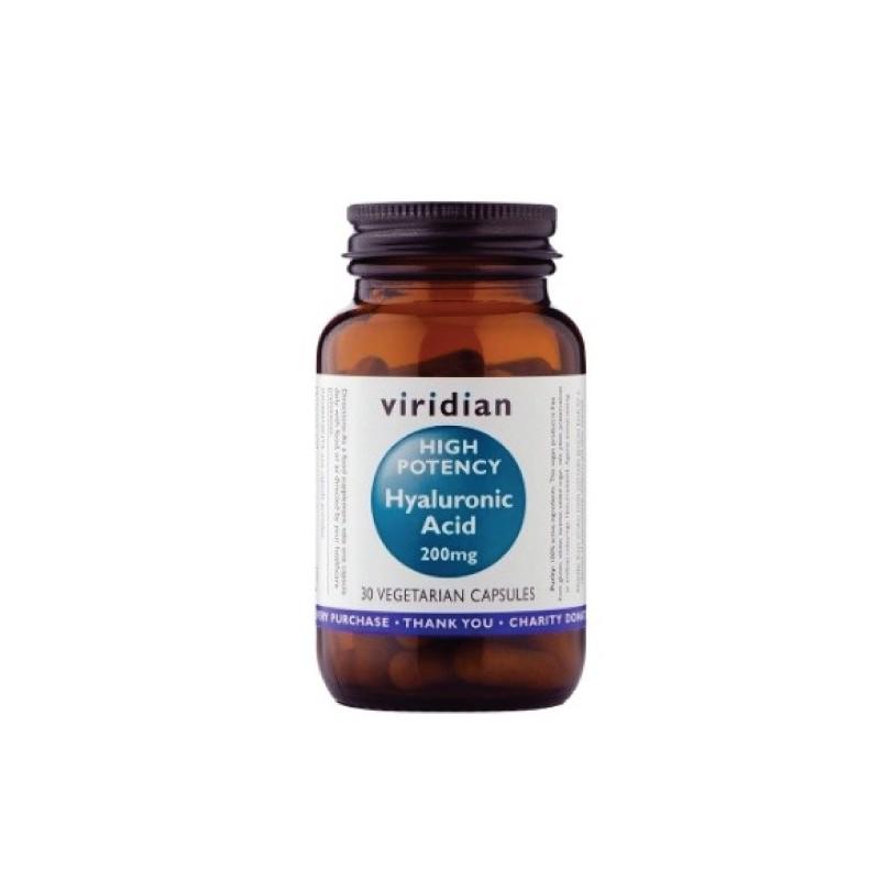 High Potency Hyaluronic Acid 200mg, VIRIDIAN, 30 capsules