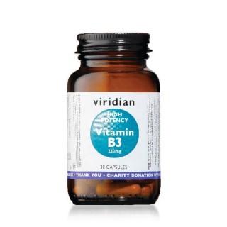 """Maisto papildas VITAMINAS B3 """"High Potency Vitamin B3 250mg"""", VIRIDIAN, 30 kapsulių"""