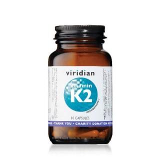 """Maisto papildas VITAMINAS K2 """"Vitamin K2"""", VIRIDIAN, 30 kapsulių"""