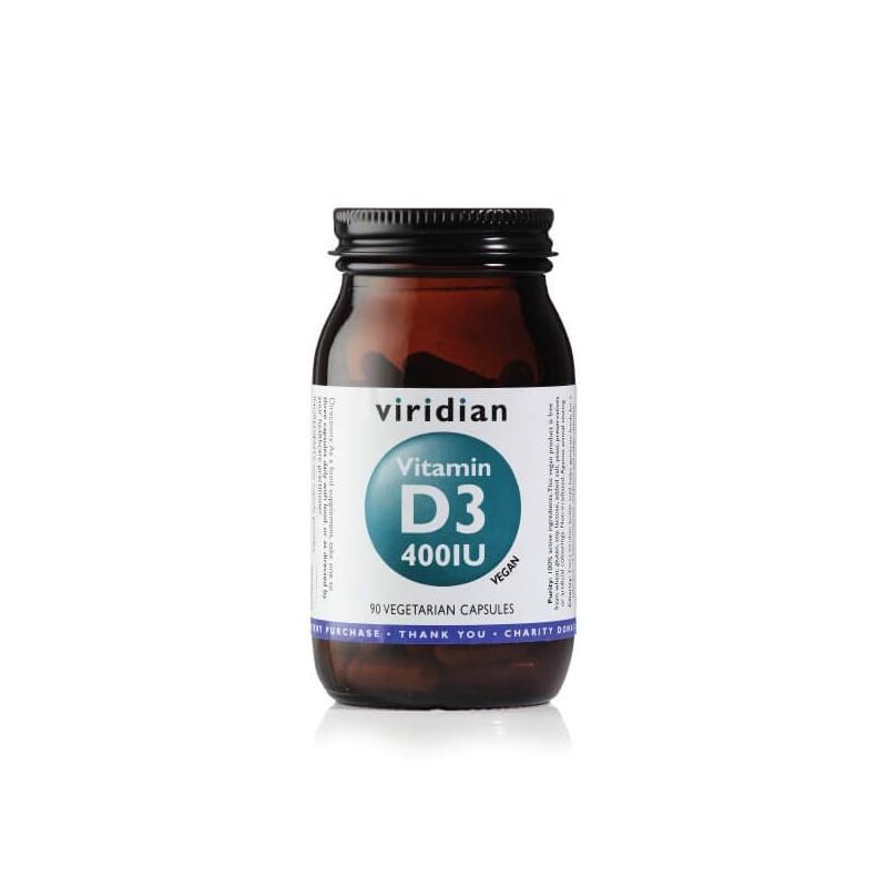 Vitamin D3 400TV, VIRIDIAN, 90 capsules