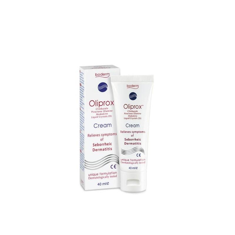 Kremas OLIPROX seborėjinio dermatito požymiams lengvinti