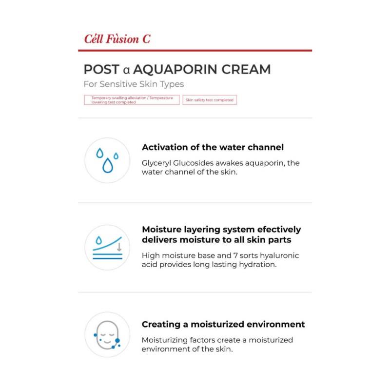 """Drėkinantis kremas """"Aquaporin Cream"""", Cell Fusion C, 50ml"""
