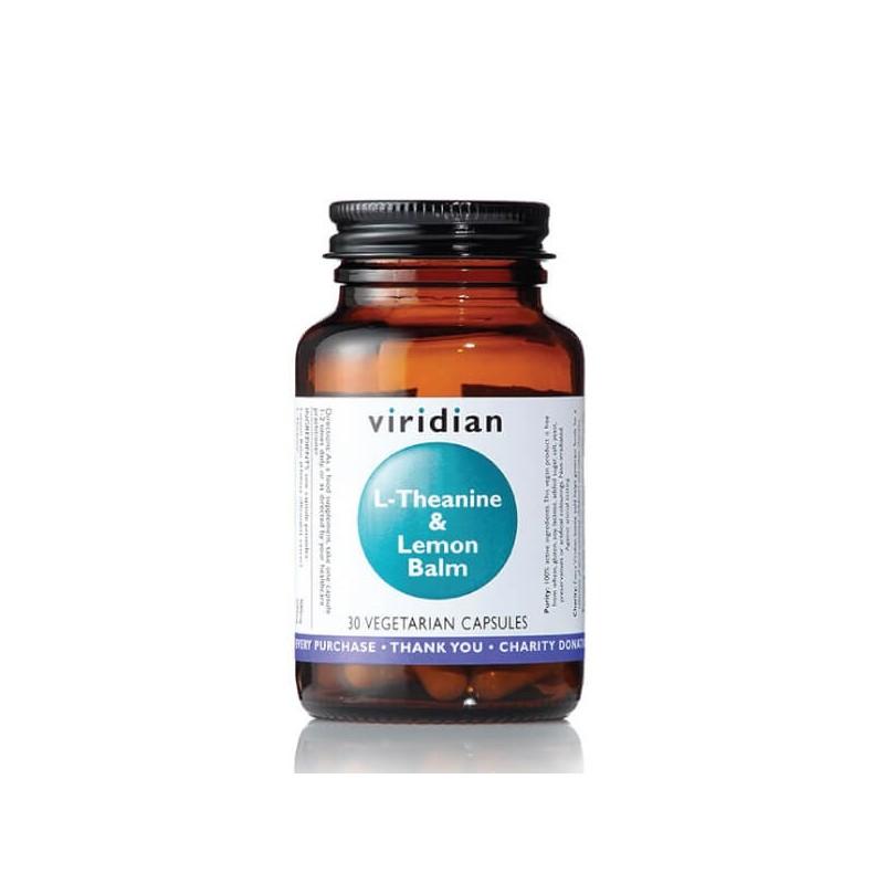 L-Theanine and Lemon Balm, VIRIDIAN, 30 capsules