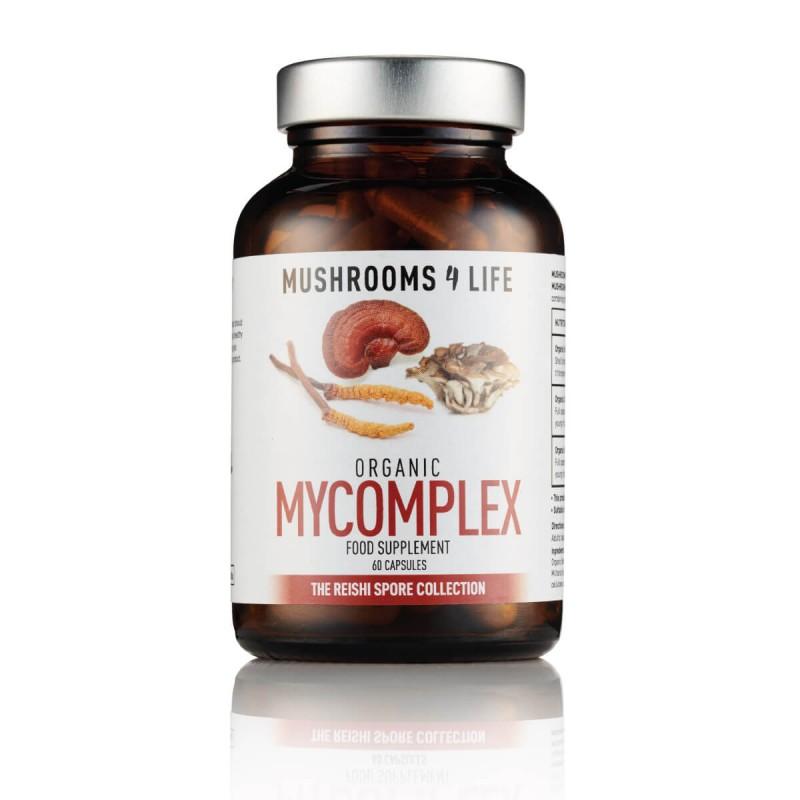 """Maisto papildas """"MyComplex"""", mushrooms4life, 60 kapsulių"""