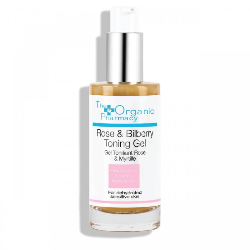 """Rožių ir mėlynių tonizuojamasis veido gelis """"Rose & Bilberry Toning Gel"""", The organic pharmacy, 50ml"""