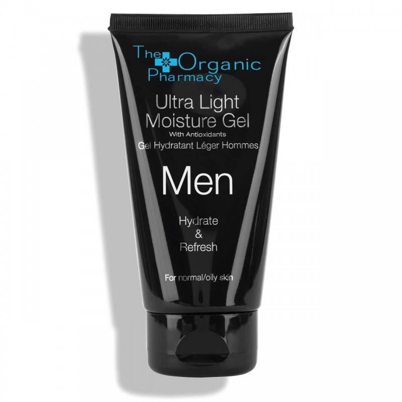 "Drėkinamasis veido gelis vyrams ""Men Ultra Light Moisture Gel"", THE ORGANIC PHARMACY, 75ml"