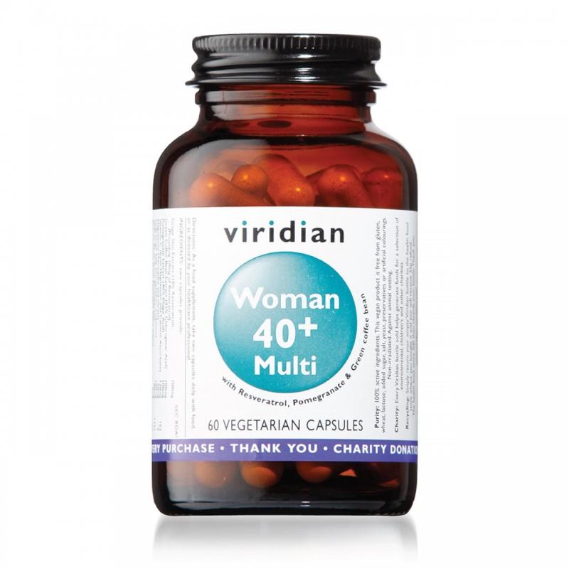 """Maisto papildas moterims """"Woman 40+ Multi"""", VIRIDIAN, 60 kapsulių"""