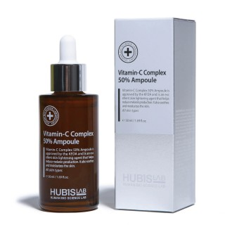 "Skaistinantis serumas su vitaminu C ""Vitamin C Complex 50% Ampoule"", HUBISLAB, 50ml"
