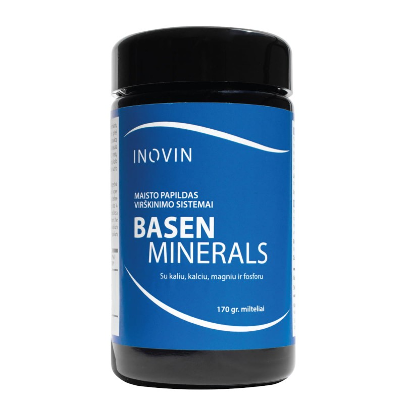 """Maisto papildas virškinimo sistemai """"Basen Minerals"""", 170 g"""