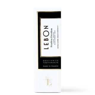 """Dantų pasta su juodaisiais serbentais ir šviežia mėta """"Fearless Freedom"""", LEBON, 25/75 ml"""