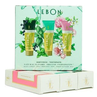 "Dantų pastų rinkinys ""Green Mood"", LEBON, 3 x 25 ml"