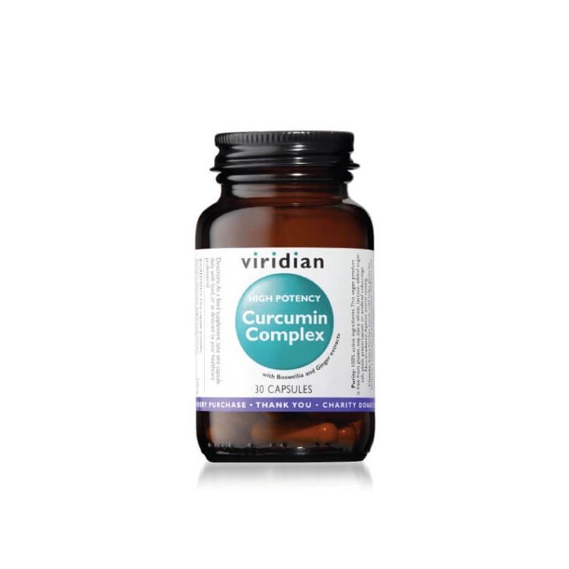 High Potency Curcumin Complex, VIRIDIAN, 30 capsules