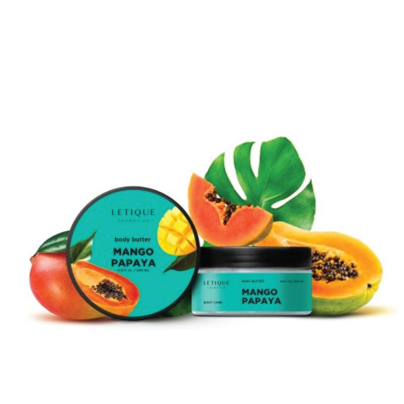 Mangų ir papajų kūno šveitiklis, Letique, 200 ml