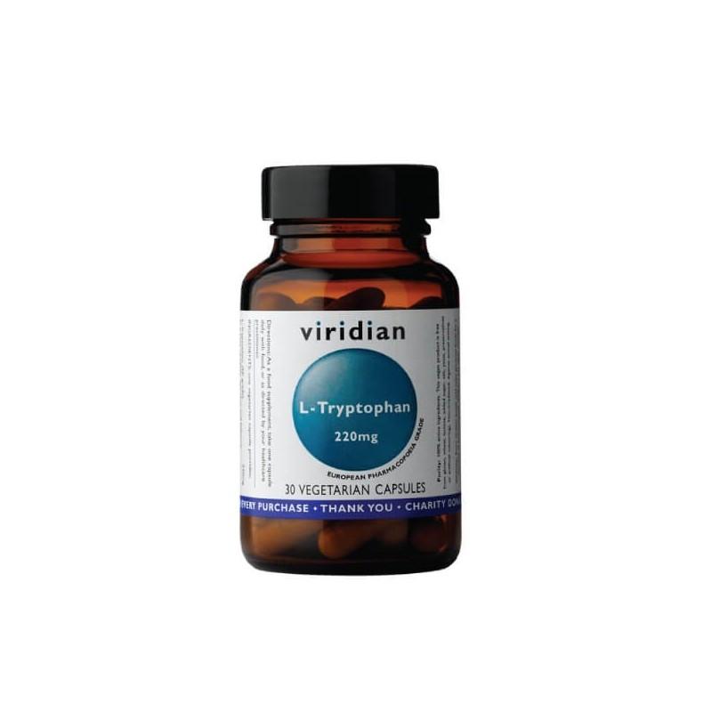 """Maisto papildas L-TRIPTOFANAS """"L-Tryptophan 220 mg"""", VIRIDIAN, 30 kapsulių"""