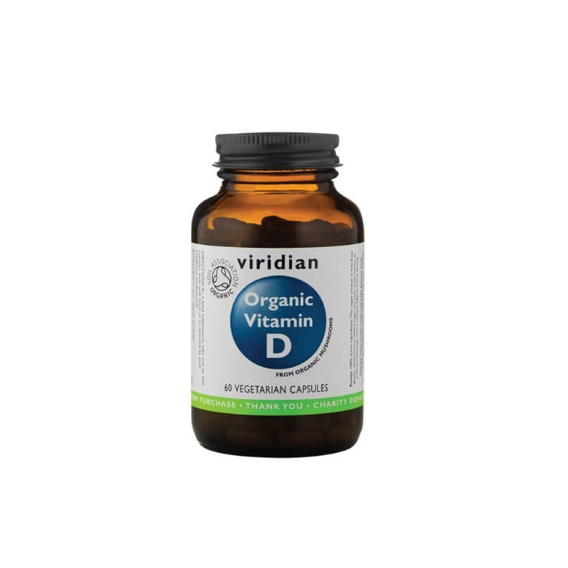 """Maisto papildas """"Organic Vitamin D2"""", VIRIDIAN, 60 kapsulių"""
