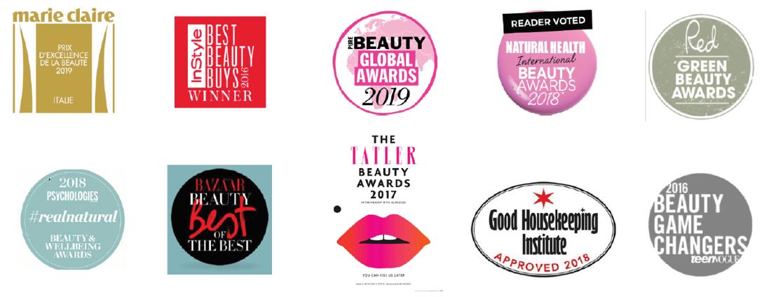 The Organic Pharmacy kosmetikos apdovanojimai