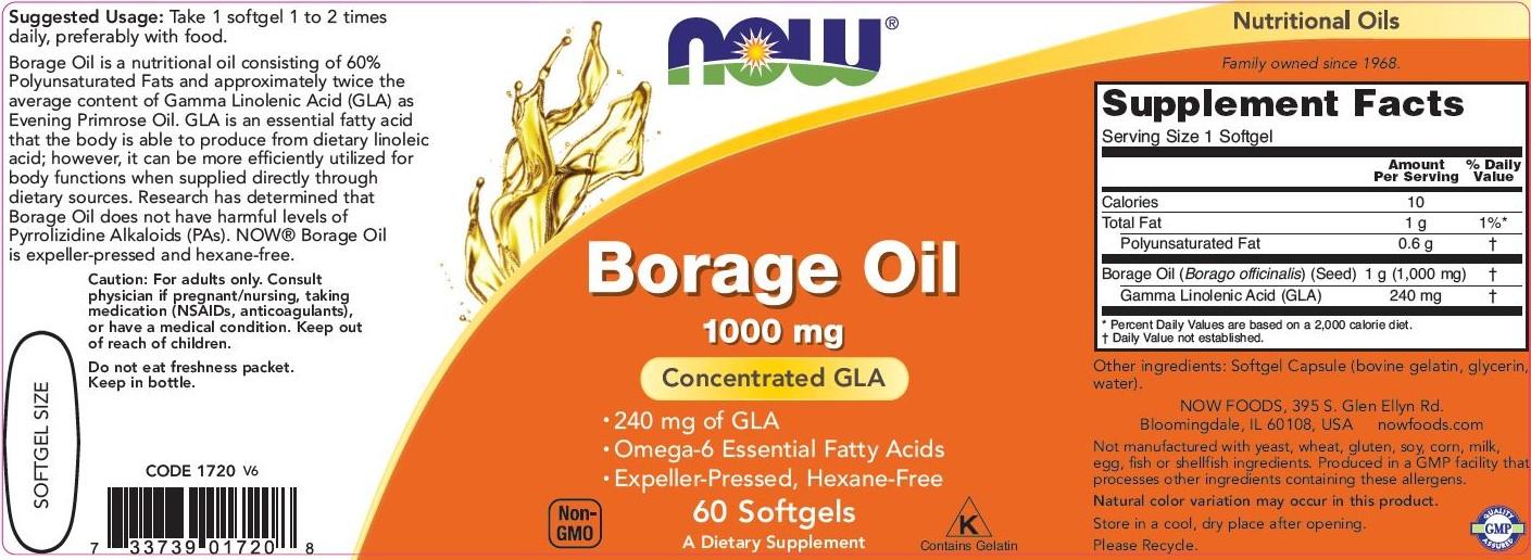 borage oil etiketė