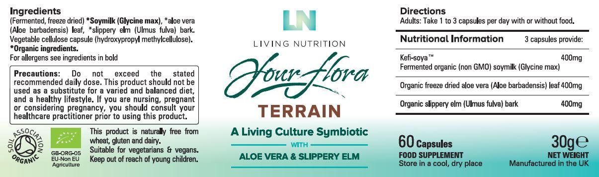 terra flora etiketė